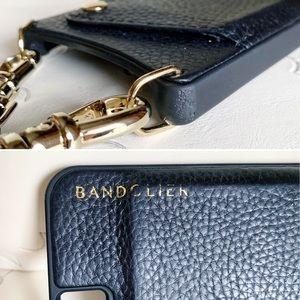 Bandolier Accessories - Bandolier Black Leather iPhone 8/7/6 Case & Strap